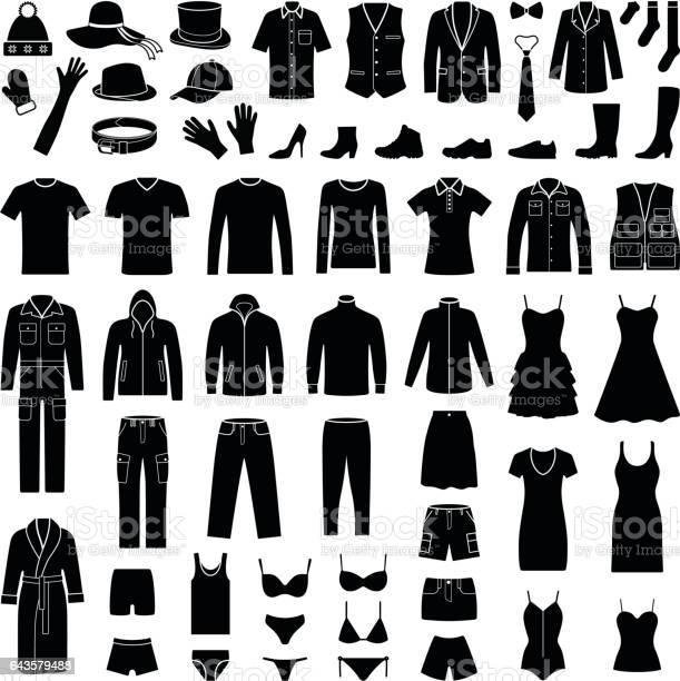 Cloth and fashion icon collection vector silhouette vector id643579488?b=1&k=6&m=643579488&s=612x612&h=2llzpyntnnqb3sx96lwmf bwm2hzzbro5dhki doov8=