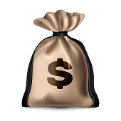 Cloth bag with money