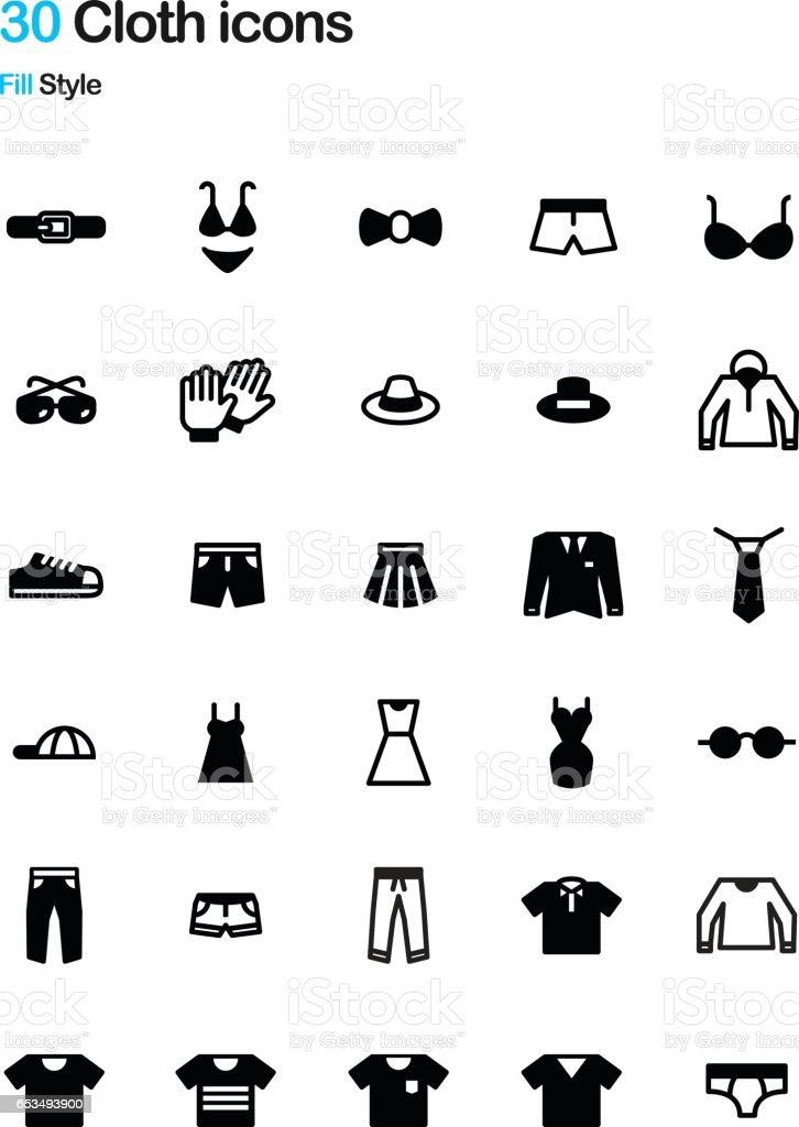 Cloth Fill Icon Pack векторная иллюстрация