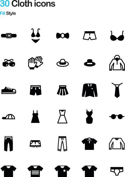 Bекторная иллюстрация Cloth Fill Icon Pack
