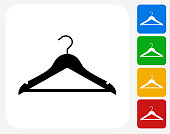 Cloth Hanger Icon Flat Graphic Design