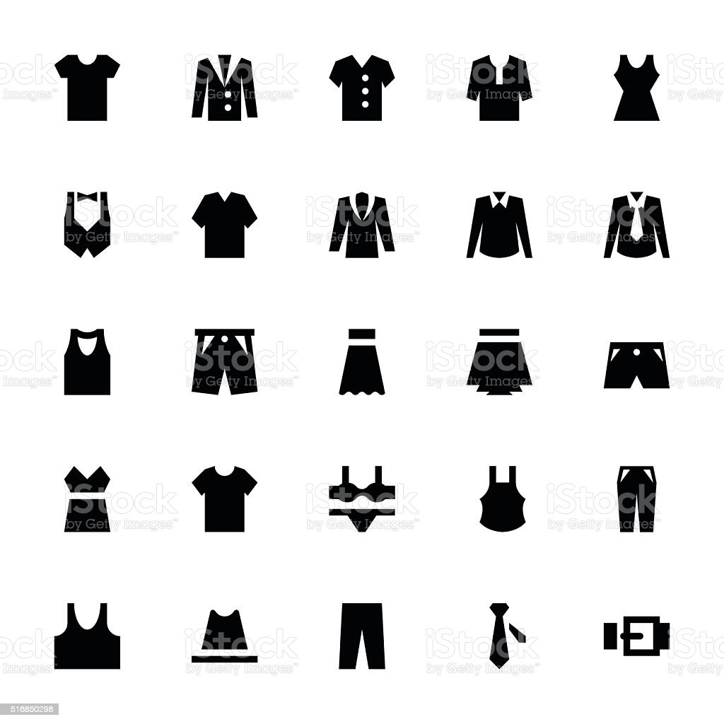 Clothes 1 vector art illustration