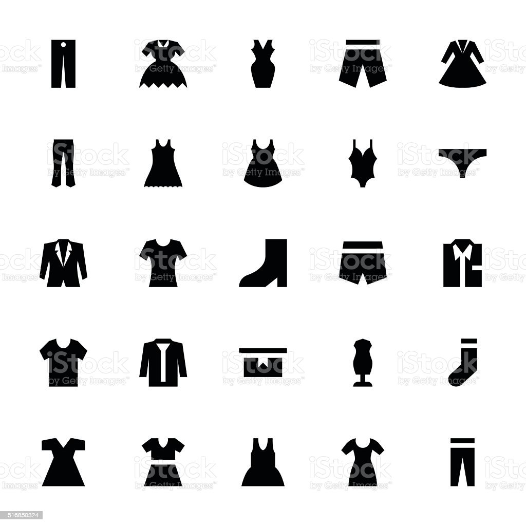 Clothes 3 vector art illustration
