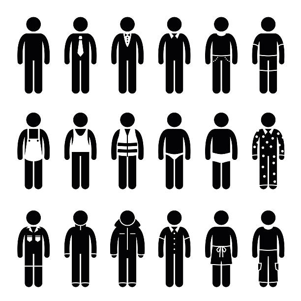 clothes clothing attire for different occasions, time, and activity pictogram - prom fashion stock illustrations, clip art, cartoons, & icons