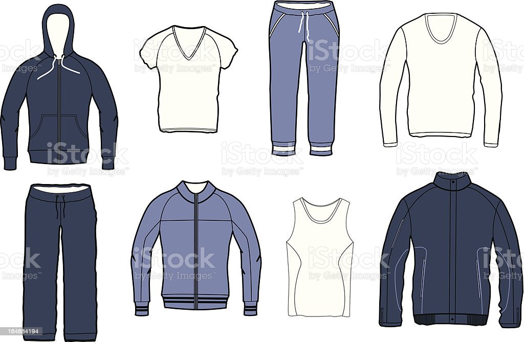clothes collection vector art illustration