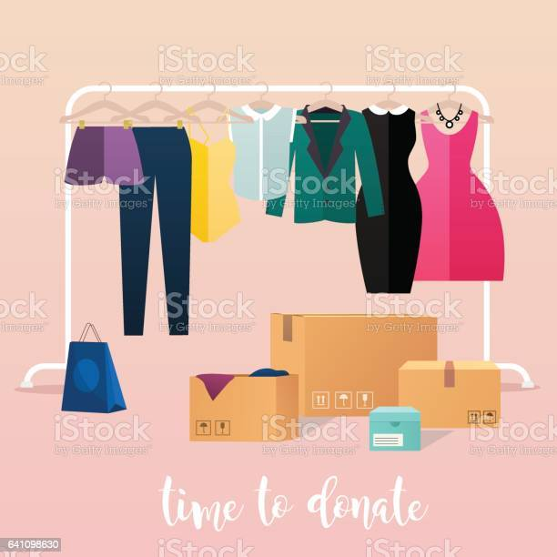 Clothes donation girl makes clothes donations boxes full of clothes vector id641098630?b=1&k=6&m=641098630&s=612x612&h=gpvrth14jmmgqw6i42i rbgunjvmcc7yppltygilfog=