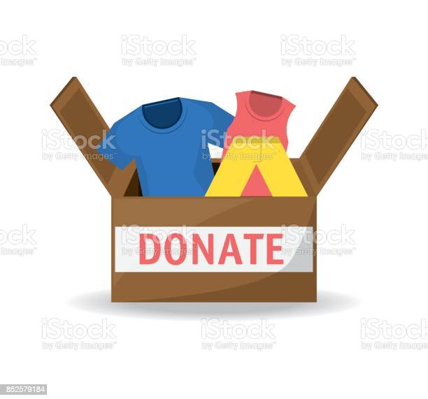 Clothes donation support to charity of the people vector id852579184?b=1&k=6&m=852579184&s=612x612&h=yxyjpbqw484rmubcsgo2qonio61nv5zin1koi2hi6pi=