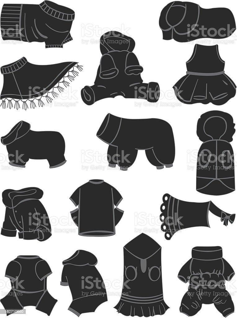 Ilustración de Ropa Para Perros y más banco de imágenes de Animal ...