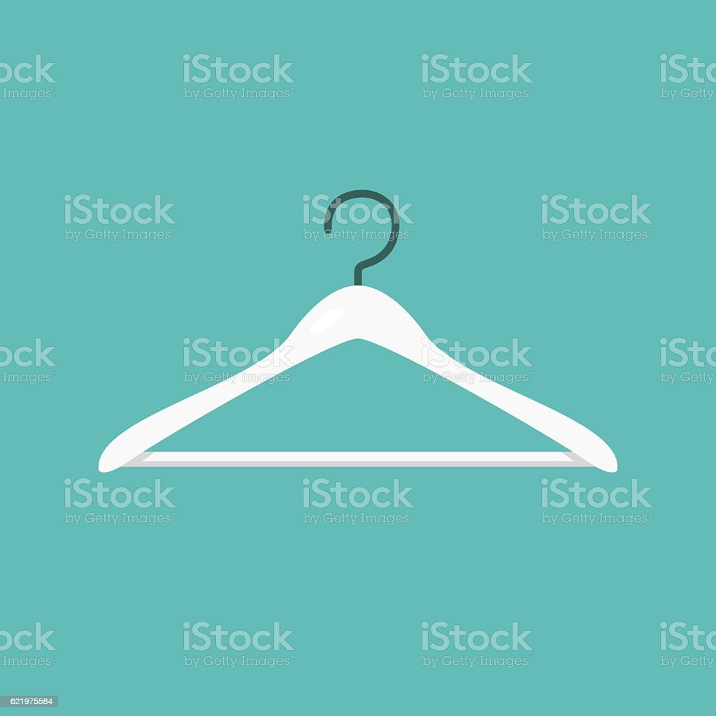 Clothes hanger icon concept vector vector art illustration