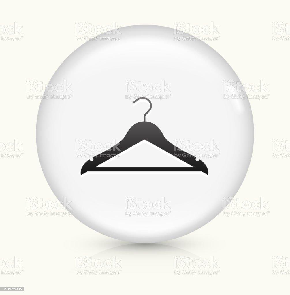Kleidung Kleiderbügel Symbol Auf Weißer Runder Vektor Knopf Vektor ...