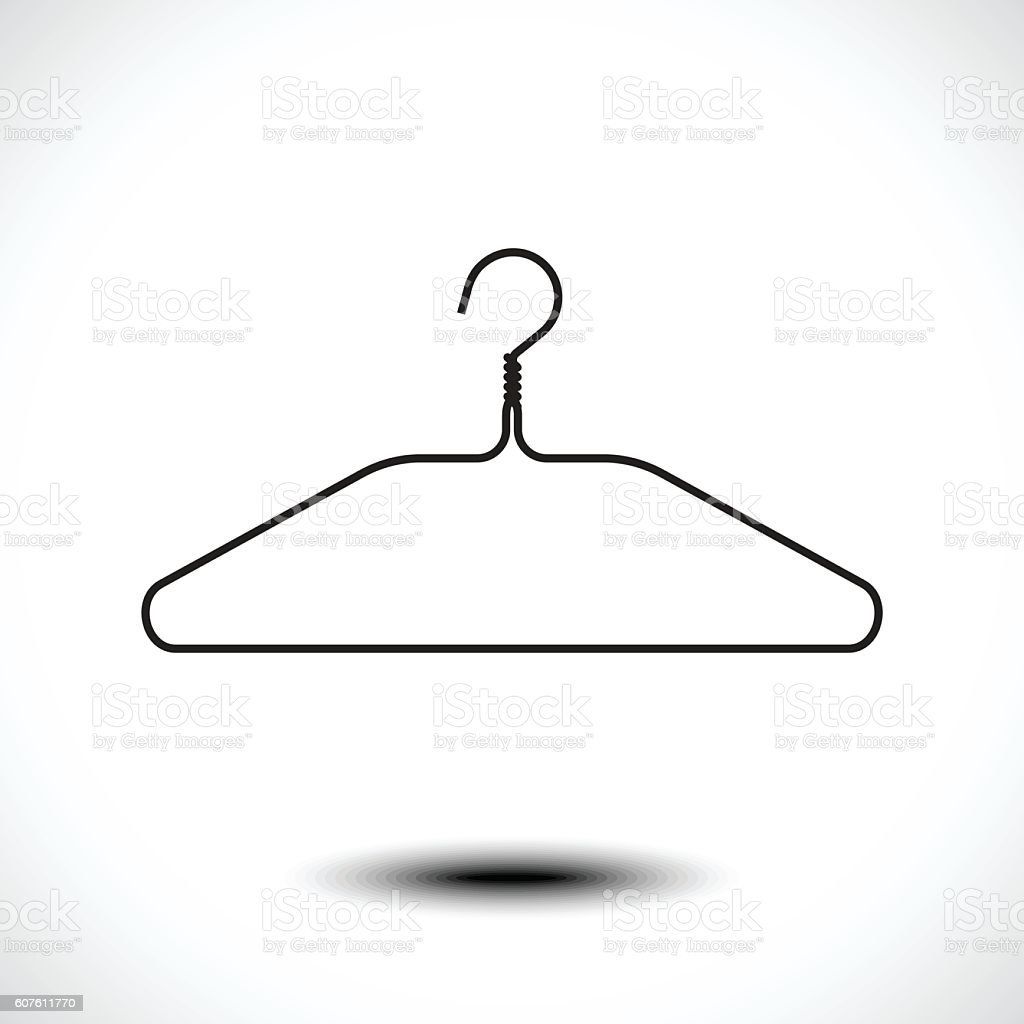 Clothes hanger icon vector art illustration