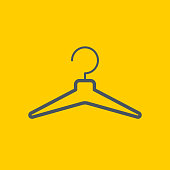 Clothes Hanger icon, vector illustration. EPS 10.