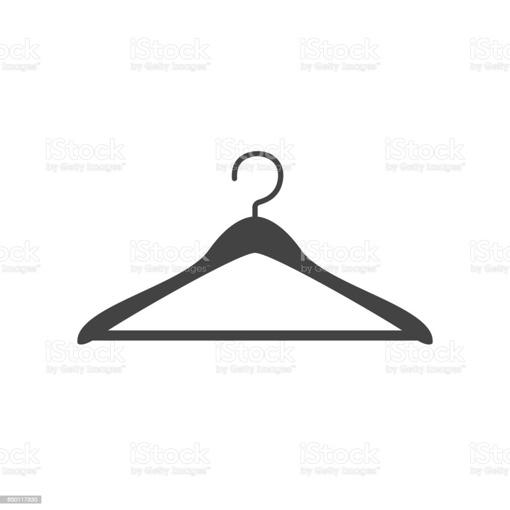 Clothes hanger icon vector vector art illustration