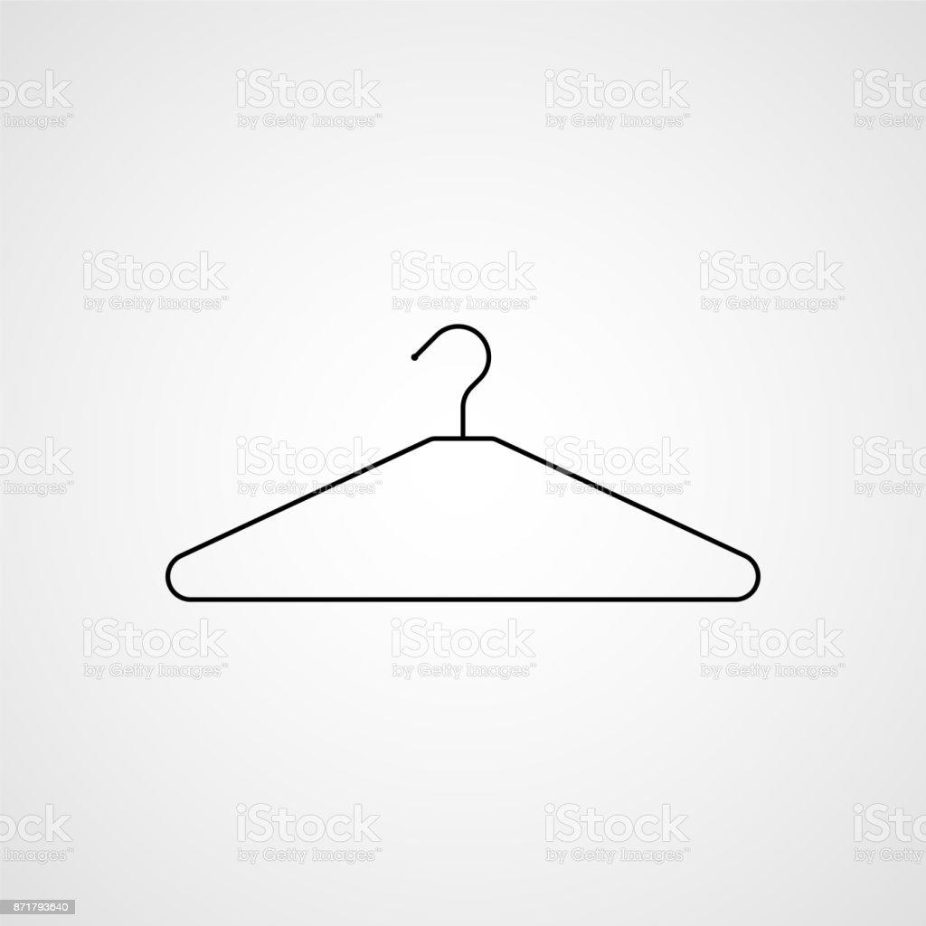 Clothes hanger icon. Vector