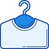 Clothes hanger line icon