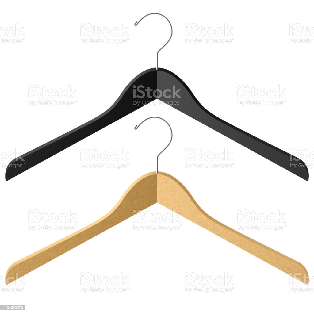 Clothes hangers vector art illustration