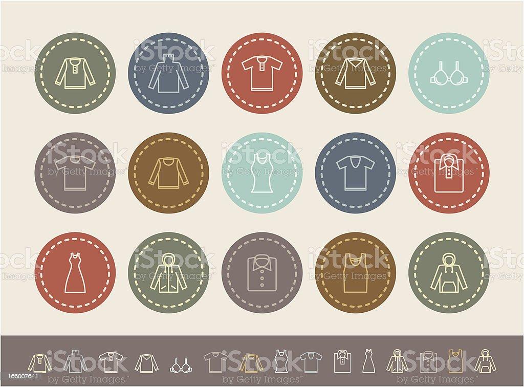 clothes icon set royalty-free stock vector art