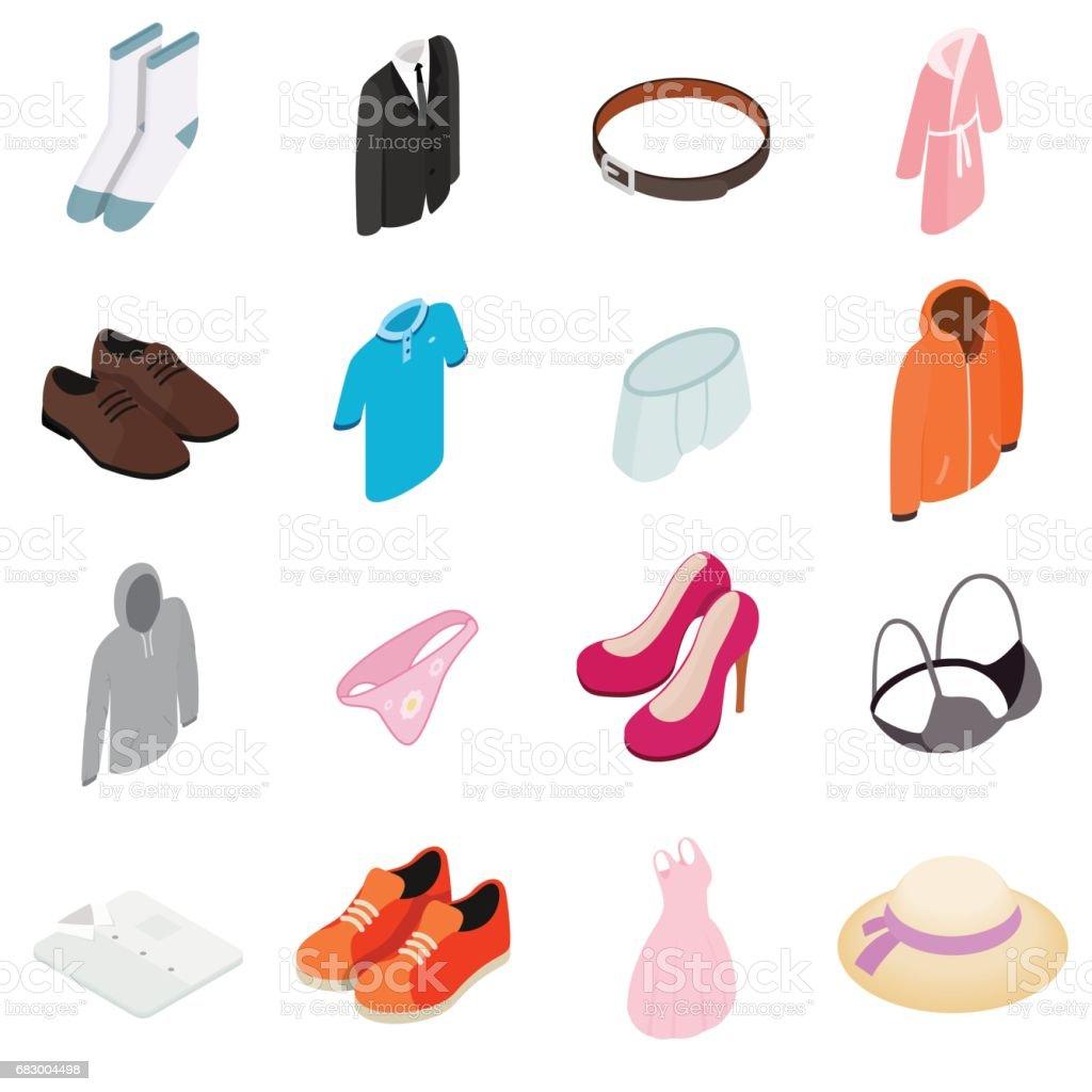 Clothes Icon set clothes icon set - arte vetorial de stock e mais imagens de acessório royalty-free