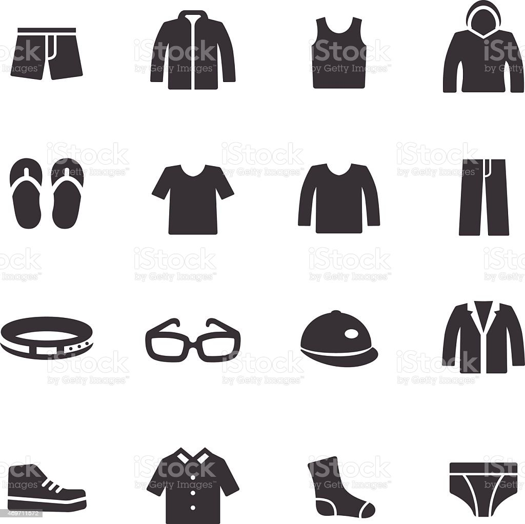 Clothes Icons - Acme Series vector art illustration