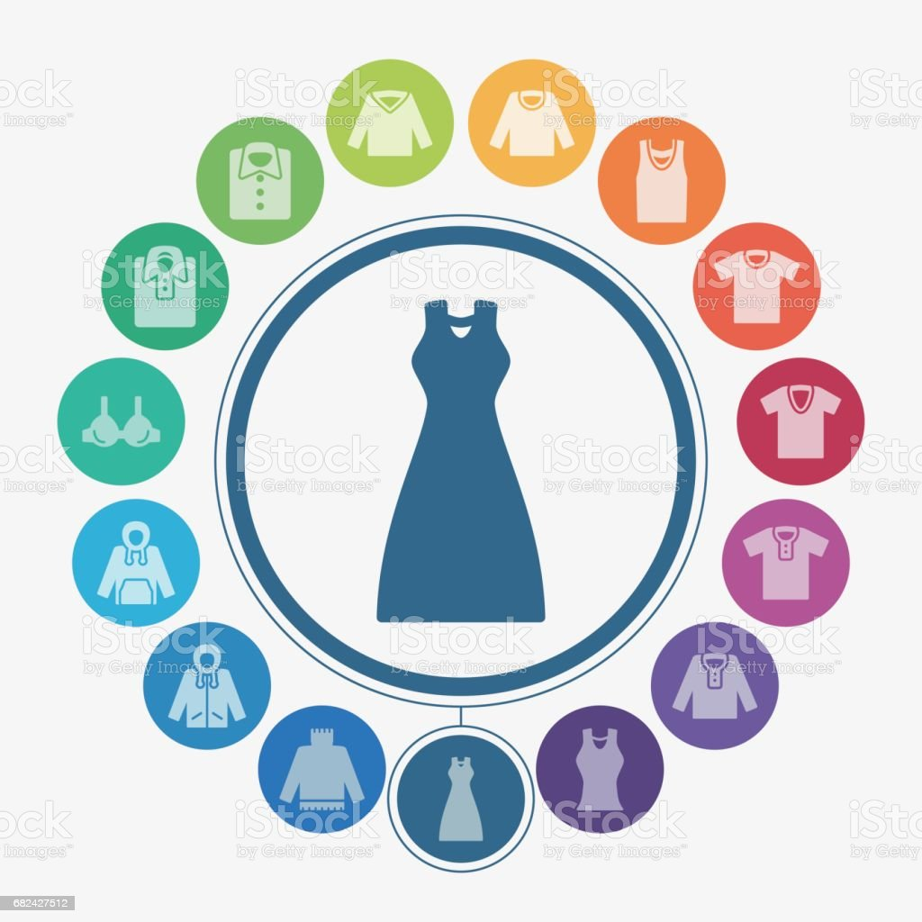 Clothes icons royalty-free clothes icons stock vector art & more images of arts culture and entertainment