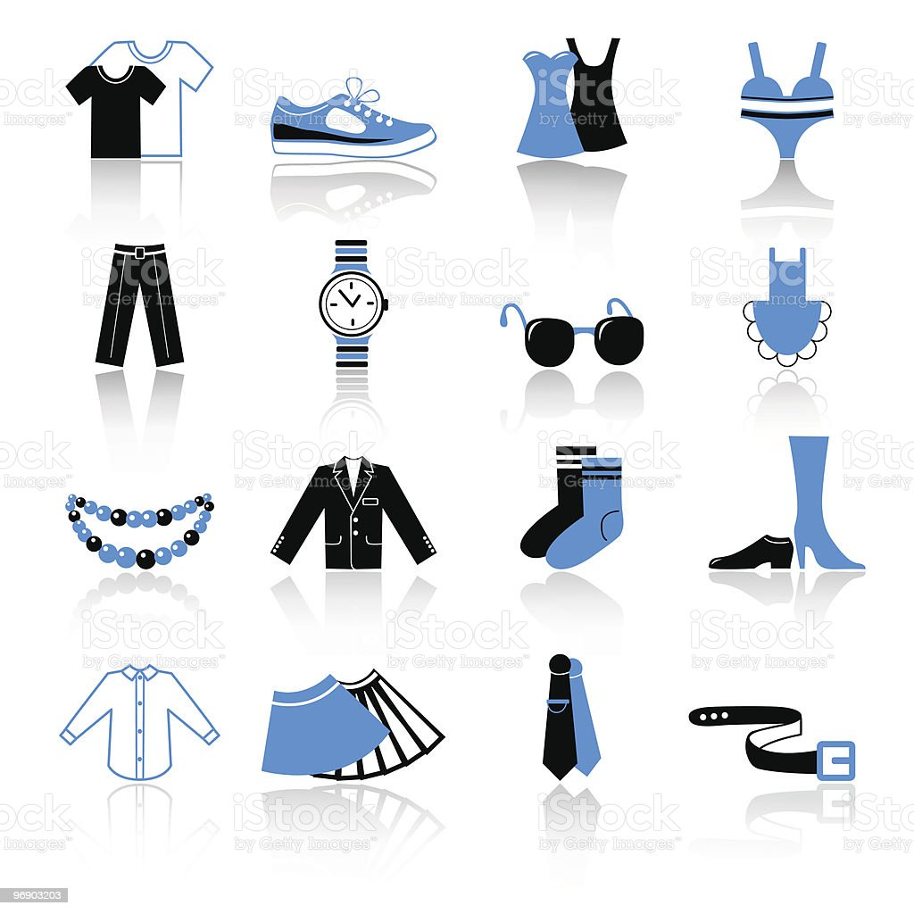 clothes icons royalty-free clothes icons stock vector art & more images of bead