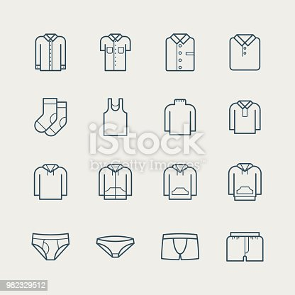 Clothes icons,vector illustration. EPS 10.