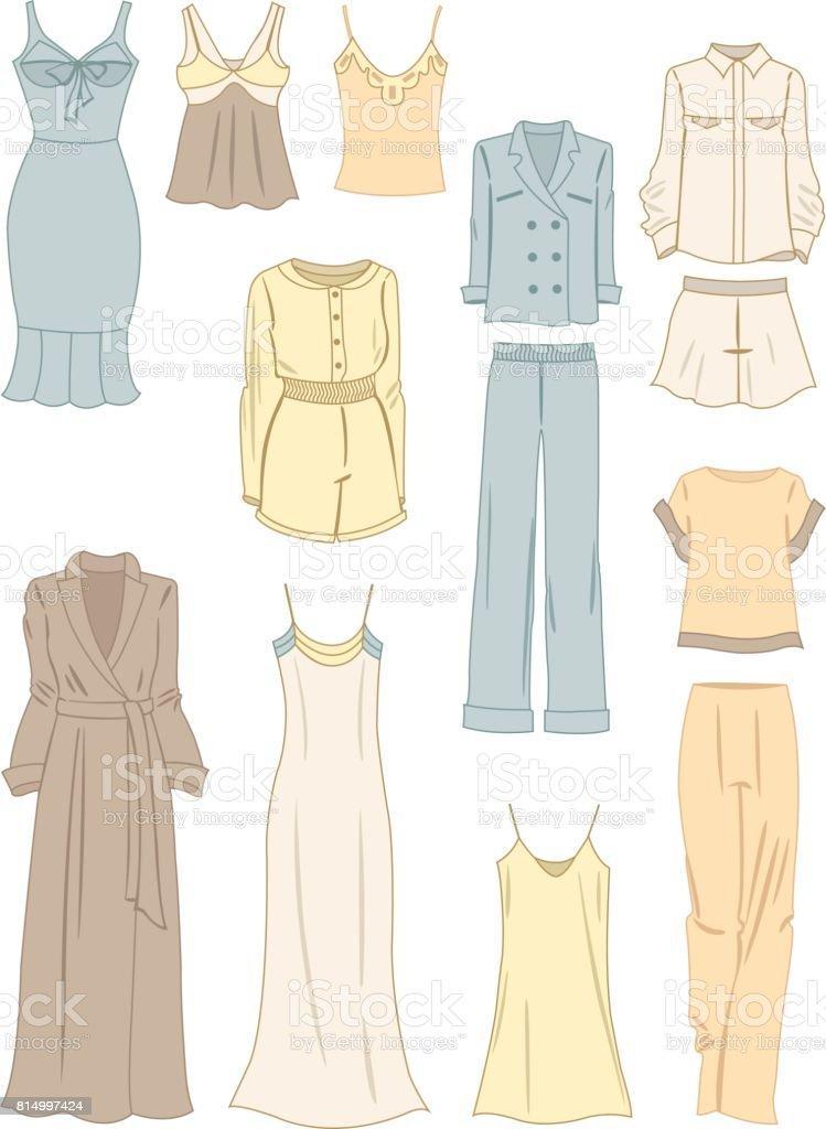 Kleidung im Pyjama-Stil – Vektorgrafik
