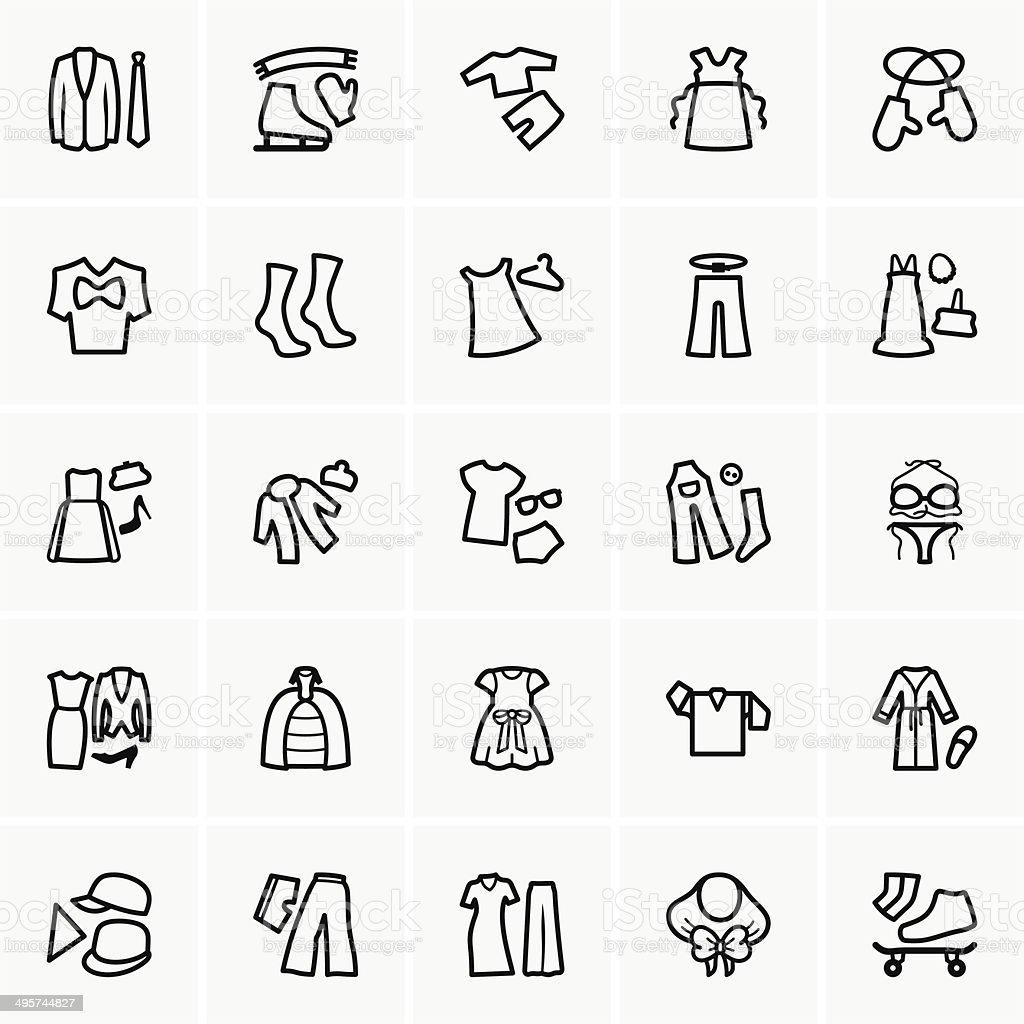 Clothes kits vector art illustration
