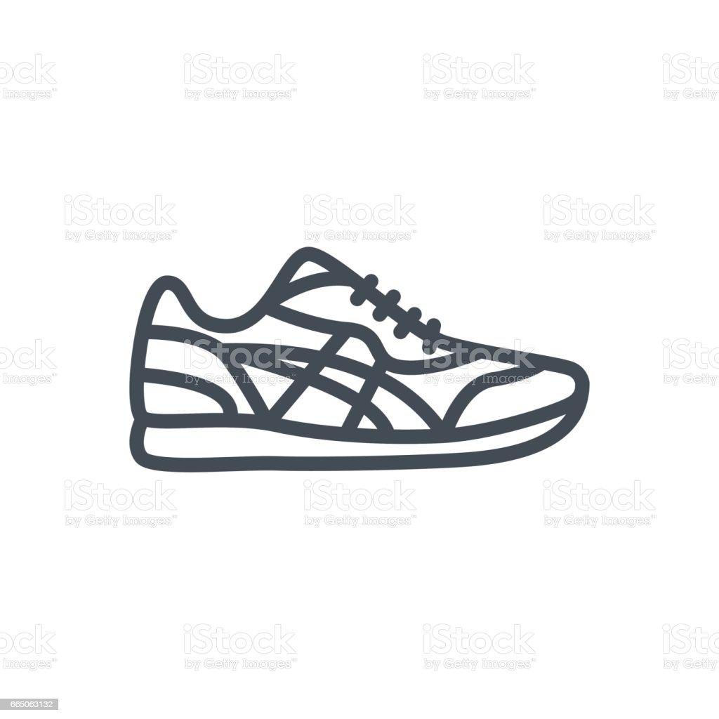 Icono Arte De Línea Vectorial Ropa Hombres Zapatillas Zapatos TKlFJ3u1c