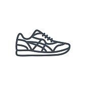 Clothes Line Icon Men Shoes Sneakers