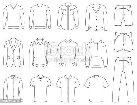 Clothes. Male clothing vector