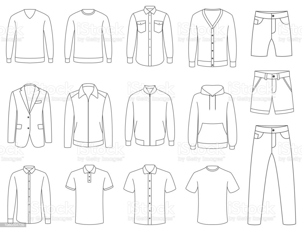 Clothes. Male clothing vector vector art illustration