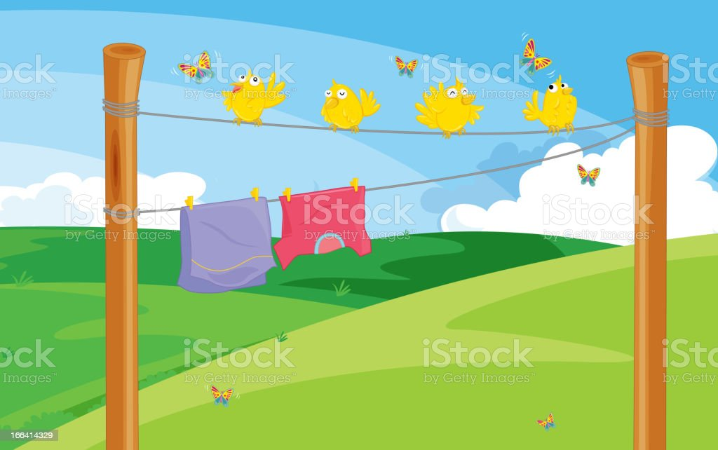 Clothes on the line royalty-free clothes on the line stock vector art & more images of animal