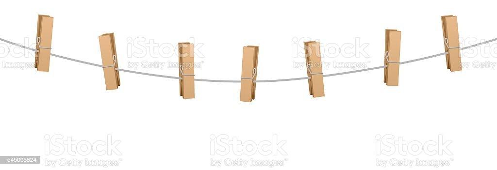 Kleidung Pins Kleidung Linie Seil Sieben Stäben Bolzen Stock