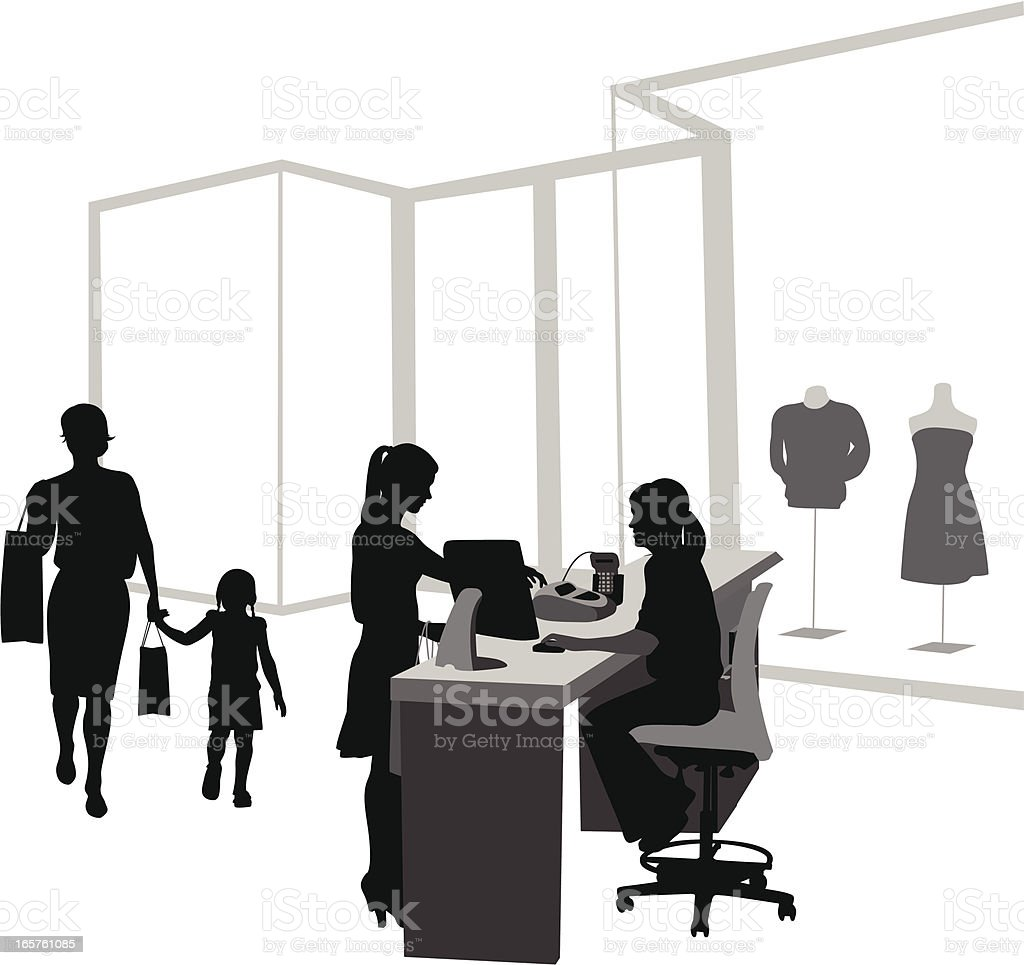 Clothes Retail Vector Silhouette royalty-free stock vector art