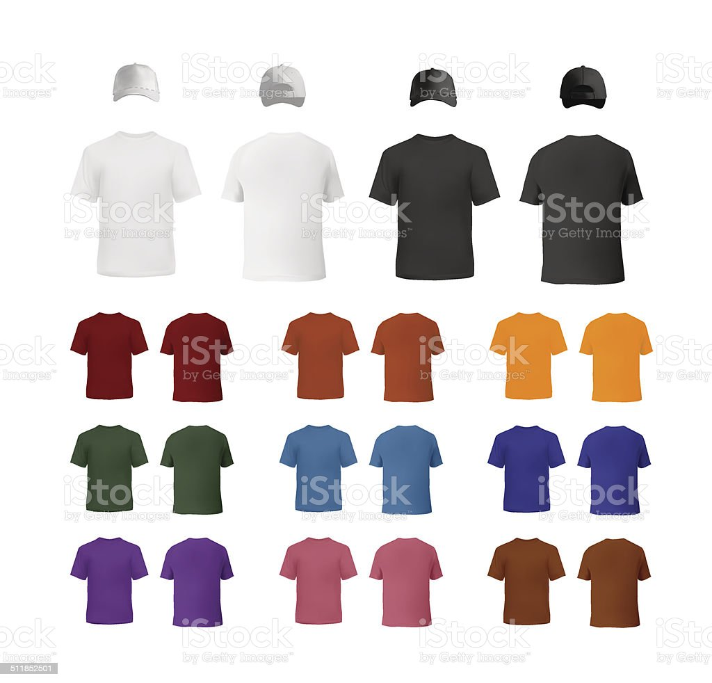 Clothes set for men vector art illustration