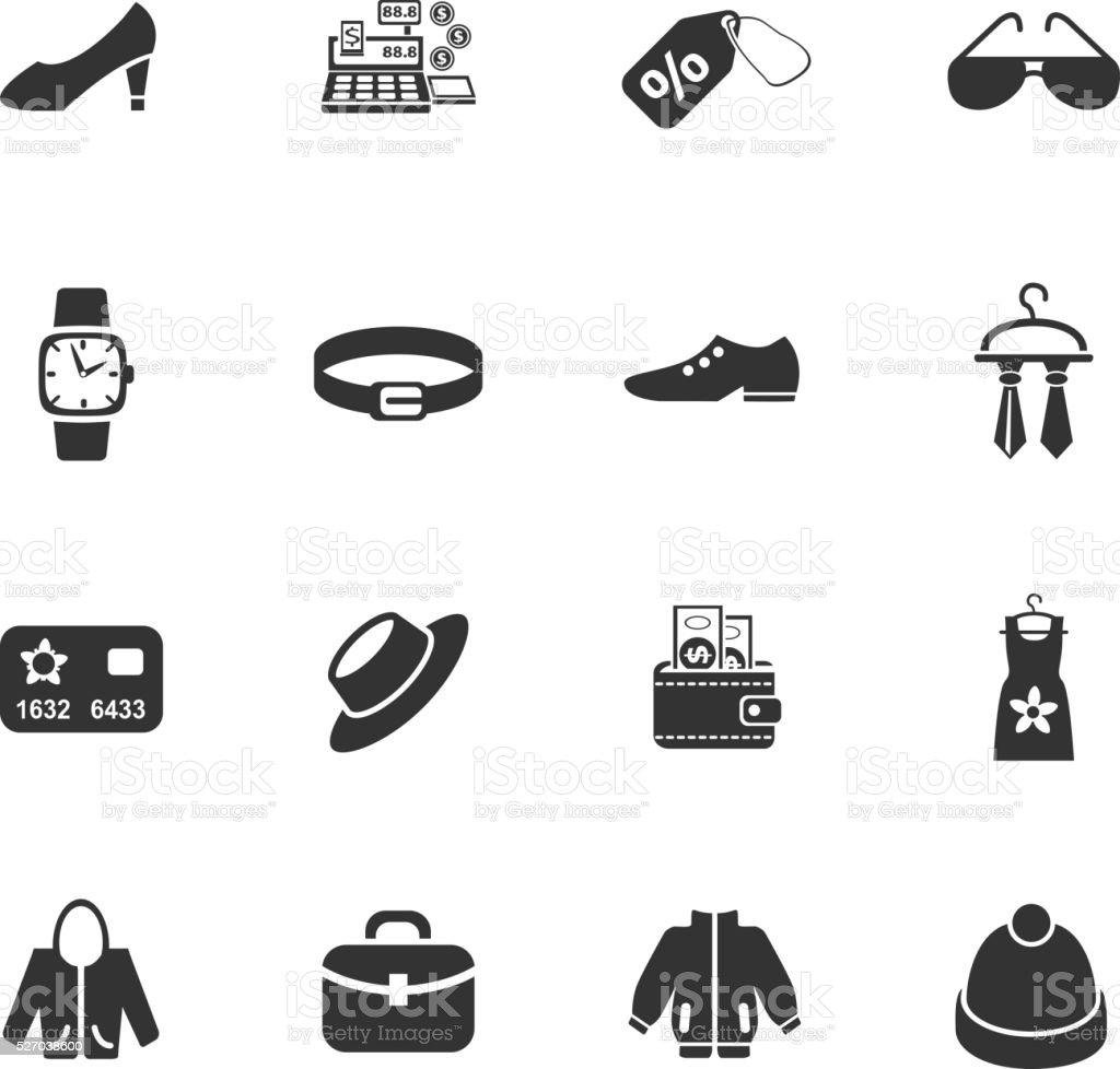 Kleidung Shop Symbol-set – Vektorgrafik
