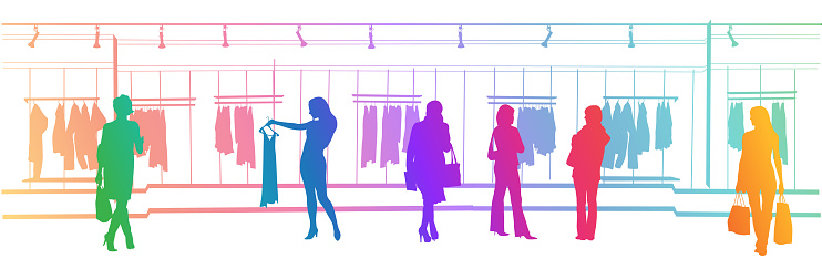 Clothes Shopping Mall Rainbow