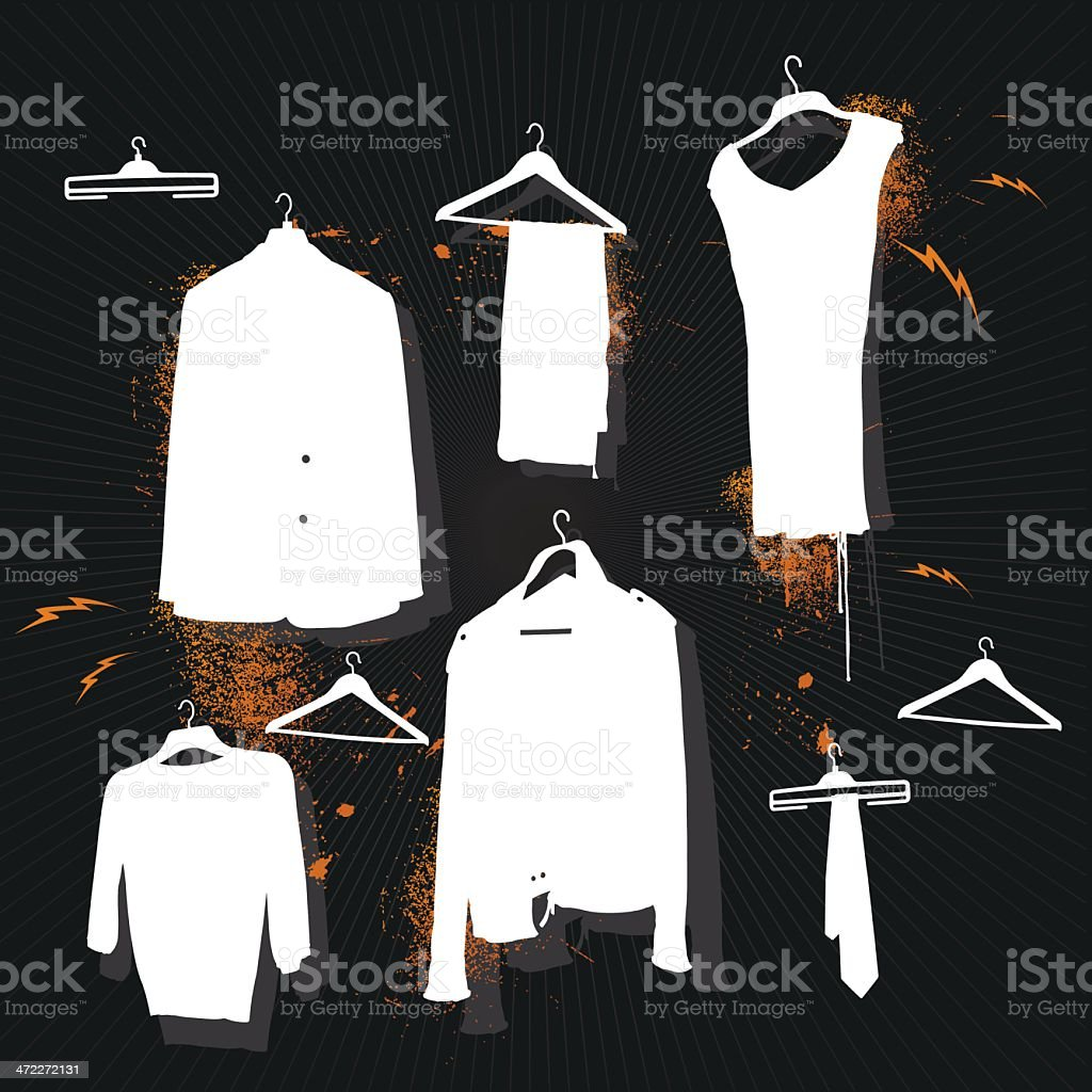 Clothes Silhouette royalty-free clothes silhouette stock vector art & more images of arts culture and entertainment