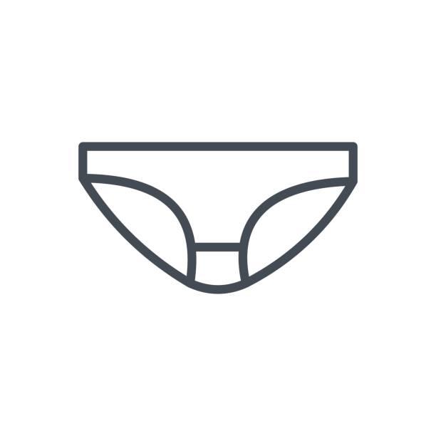 Bекторная иллюстрация Clothes Underwear Line Icon Panties