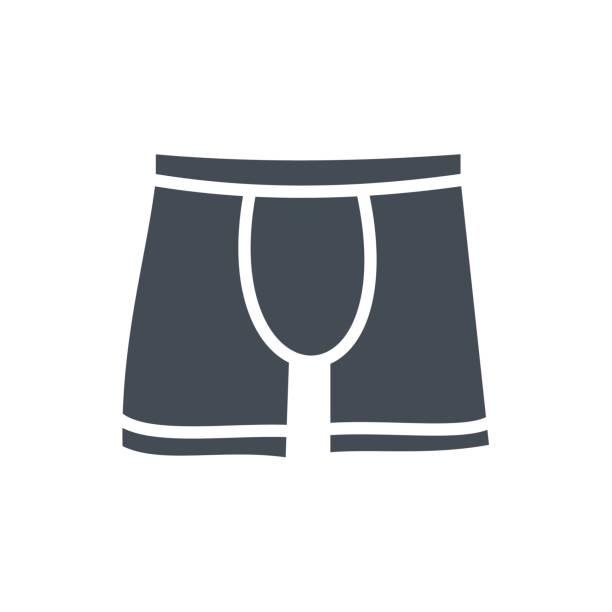 Bекторная иллюстрация Clothes Underwear Silhouette Icon Panties