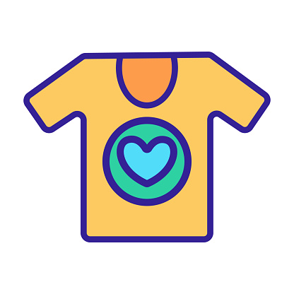 Clothes volunteer icon vector. Isolated contour symbol illustration
