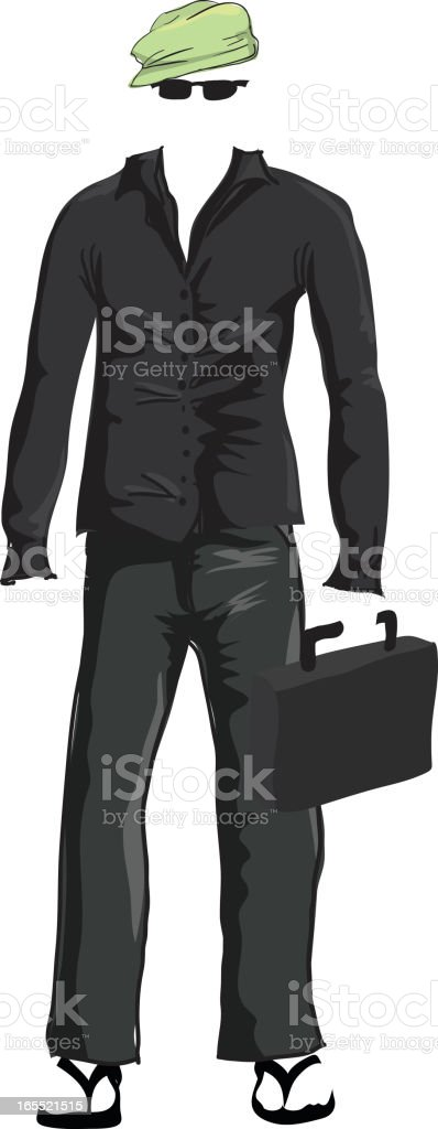 clothes with no man vector art illustration
