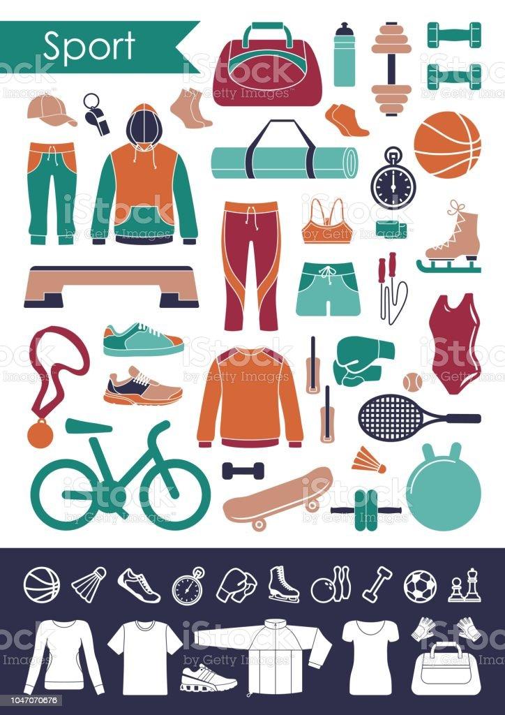 Ilustración de Ropa Y Accesorios Para Deportes Y Fitness y