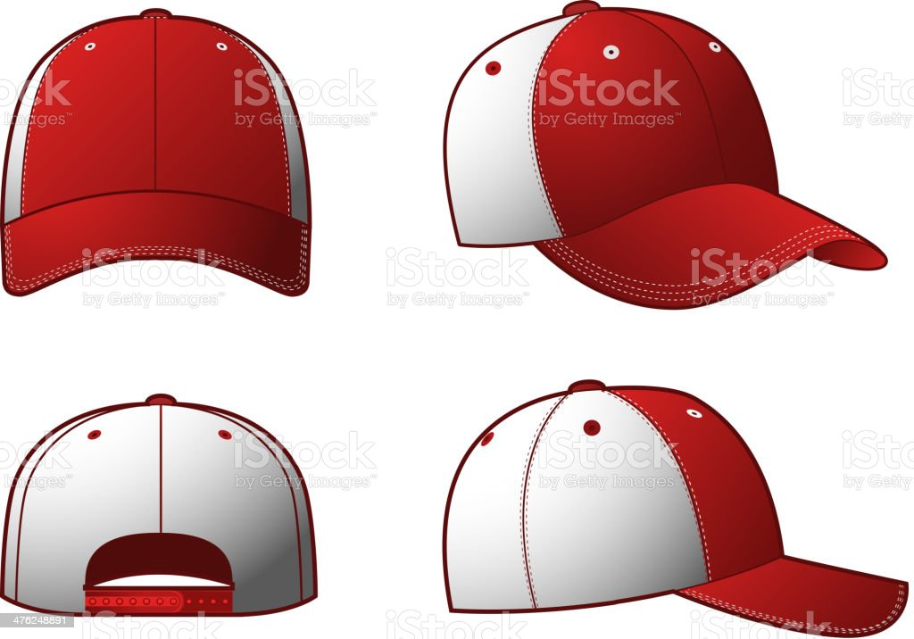 Clothing Cap Hats vector art illustration
