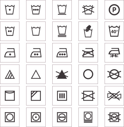 Clothing Care Fabric Icons