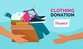 istock Clothing donation for charity 1224414111