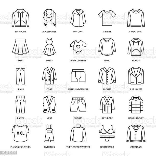 Clothing fasion flat line icons mens womens apparel dress suit jacket vector id902823832?b=1&k=6&m=902823832&s=612x612&h=ggwooosk3jf8gg6ktucthwyuc4h74uflrgwfv appxi=