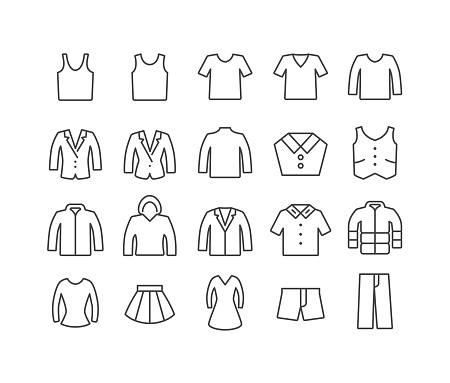 Clothing Icons - Classic Line Series