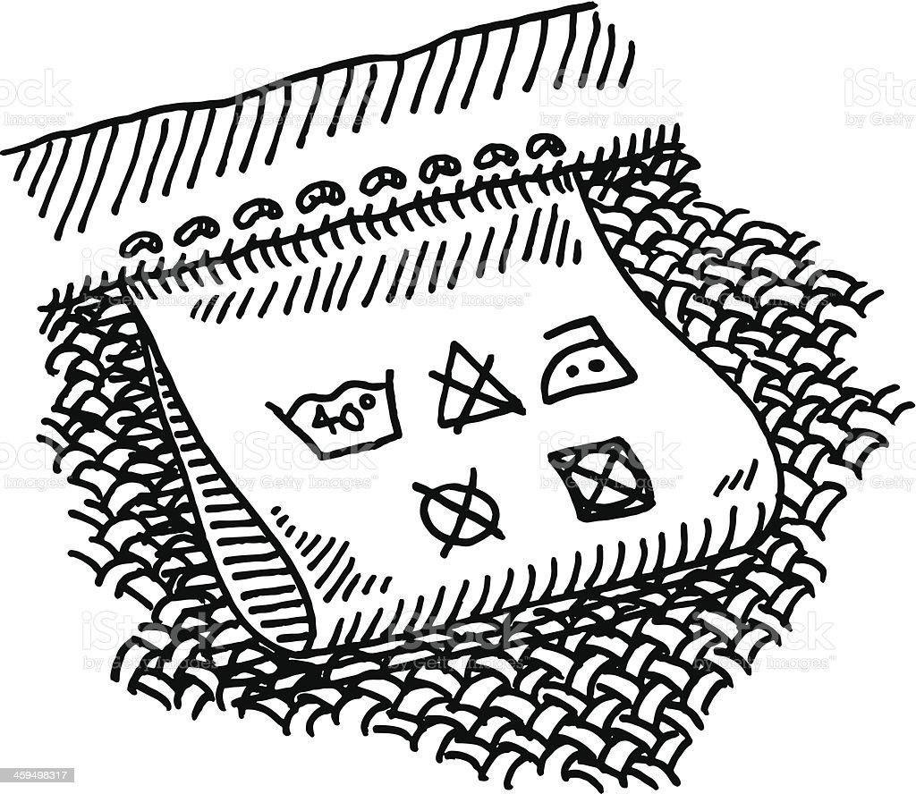 Clothing Label Washing Symbols Drawing royalty-free stock vector art